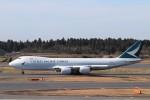 KAZFLYERさんが、成田国際空港で撮影したキャセイパシフィック航空 747-867F/SCDの航空フォト(飛行機 写真・画像)
