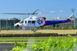 あきらっすさんが、調布飛行場で撮影した福島県消防防災航空隊 412EPの航空フォト(写真)