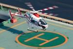 あきらっすさんが、朝日新聞東京本社ヘリポートで撮影した朝日新聞社 MD 900/902の航空フォト(飛行機 写真・画像)