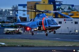 あきらっすさんが、東京ヘリポートで撮影した山形県警察 A109E Powerの航空フォト(写真)
