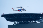 あきらっすさんが、さいたま新都心合同庁舎2号館屋上ヘリポートで撮影した国土交通省 地方整備局 AW139の航空フォト(飛行機 写真・画像)