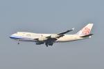 ポン太さんが、スワンナプーム国際空港で撮影したチャイナエアライン 747-409F/SCDの航空フォト(写真)