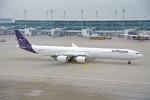 ちゃぽんさんが、ミュンヘン・フランツヨーゼフシュトラウス空港で撮影したルフトハンザドイツ航空 A340-642の航空フォト(飛行機 写真・画像)