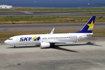 yabyanさんが、中部国際空港で撮影したスカイマーク 737-8HXの航空フォト(飛行機 写真・画像)