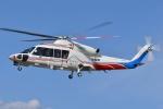 ブルーさんさんが、双葉滑空場で撮影した山梨県防災航空隊 S-76Dの航空フォト(写真)