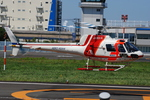 へりさんが、東京ヘリポートで撮影した朝日航洋 AS350B Ecureuilの航空フォト(写真)
