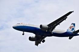 CKG_Gaoさんが、重慶江北国際空港で撮影した重慶航空 A320-214の航空フォト(飛行機 写真・画像)