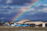 LAX Spotterさんが、ロサンゼルス国際空港で撮影したKLMオランダ航空 747-406Mの航空フォト(写真)