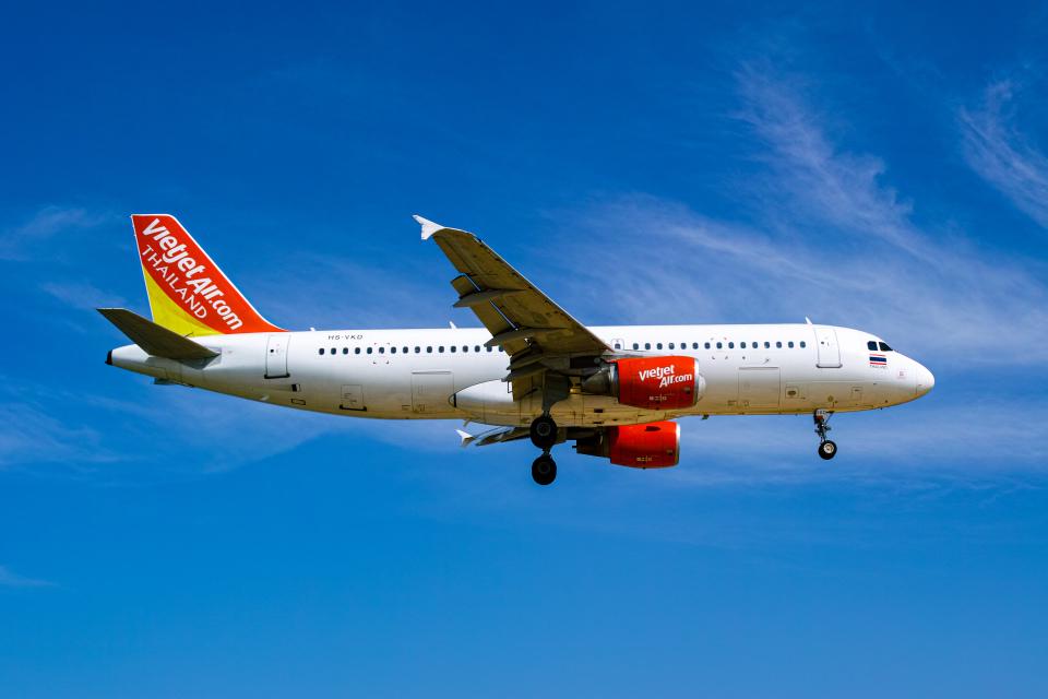 delawakaさんのタイ・ベトジェットエア Airbus A320 (HS-VKD) 航空フォト