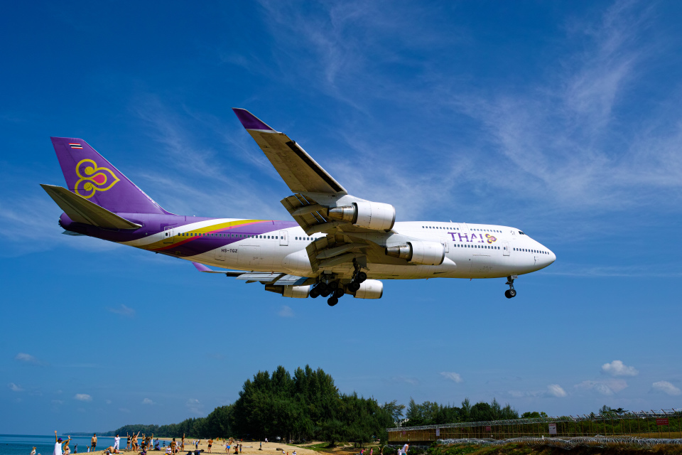 delawakaさんのタイ国際航空 Boeing 747-400 (HS-TGZ) 航空フォト