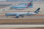 OMAさんが、仁川国際空港で撮影したキャセイパシフィック航空 A350-941XWBの航空フォト(飛行機 写真・画像)