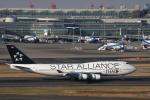 べにやさんが、羽田空港で撮影したタイ国際航空 747-4D7の航空フォト(写真)