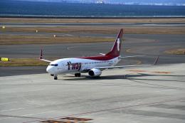 シャークレットさんが、中部国際空港で撮影したティーウェイ航空 737-8KNの航空フォト(飛行機 写真・画像)