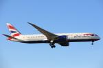 安芸あすかさんが、ロンドン・ヒースロー空港で撮影したブリティッシュ・エアウェイズ 787-9の航空フォト(写真)