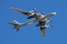 べにやさんが、赤の広場で撮影したロシア空軍 Tu-95/142の航空フォト(飛行機 写真・画像)