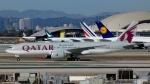 Bluewingさんが、ロサンゼルス国際空港で撮影したカタール航空 777-2DZ/LRの航空フォト(写真)