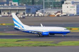 たまさんが、羽田空港で撮影したラスベガス サンズ 737-74U BBJの航空フォト(飛行機 写真・画像)