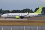 MOR1(新アカウント)さんが、鹿児島空港で撮影したソラシド エア 737-81Dの航空フォト(飛行機 写真・画像)