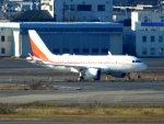 チャレンジャーさんが、羽田空港で撮影したSKテレコム A319-115CJの航空フォト(飛行機 写真・画像)
