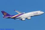 Chofu Spotter Ariaさんが、羽田空港で撮影したタイ国際航空 747-4D7の航空フォト(飛行機 写真・画像)