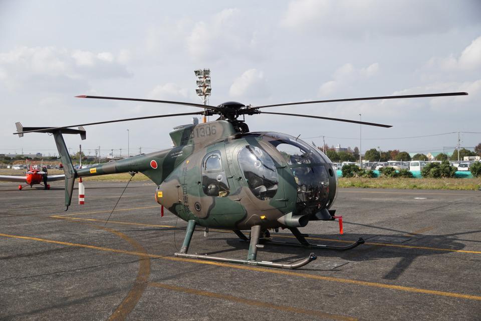 神宮寺ももさんの陸上自衛隊 Kawasaki OH-6D (31306) 航空フォト
