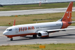 k-spotterさんが、関西国際空港で撮影したチェジュ航空 737-8Q8の航空フォト(飛行機 写真・画像)