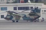 木人さんが、那覇空港で撮影した航空自衛隊 CH-47J/LRの航空フォト(写真)