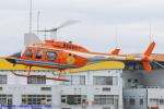 Chofu Spotter Ariaさんが、群馬ヘリポートで撮影した新日本ヘリコプター 206L-3 LongRanger IIIの航空フォト(飛行機 写真・画像)