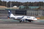KAZFLYERさんが、成田国際空港で撮影したオーロラ A319-111の航空フォト(飛行機 写真・画像)