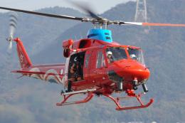 神宮寺ももさんが、岡南飛行場で撮影した岡山県消防防災航空隊 412EPの航空フォト(飛行機 写真・画像)