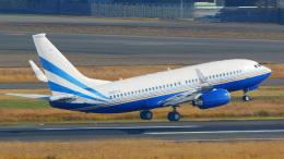 tkosadaさんが、羽田空港で撮影したラスベガス サンズ 737-74U BBJの航空フォト(飛行機 写真・画像)