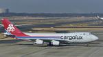 パンダさんが、成田国際空港で撮影したカーゴルクス 747-4R7F/SCDの航空フォト(飛行機 写真・画像)