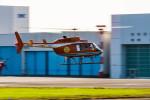 NCT310さんが、東京ヘリポートで撮影した新日本ヘリコプター 206L-3 LongRanger IIIの航空フォト(飛行機 写真・画像)