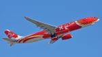 flytaka78さんが、成田国際空港で撮影したエアアジア・エックス A330-343Eの航空フォト(飛行機 写真・画像)