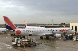 マッペケさんが、パリ シャルル・ド・ゴール国際空港で撮影したエールフランス・オップ! ERJ-190-100 LR (ERJ-190LR)の航空フォト(飛行機 写真・画像)