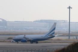 ハム太郎。さんが、羽田空港で撮影したラスベガス サンズ 737-74U BBJの航空フォト(飛行機 写真・画像)