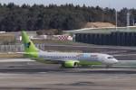KAZFLYERさんが、成田国際空港で撮影したジンエアー 737-86Nの航空フォト(写真)