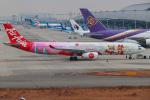 代打の切札さんが、関西国際空港で撮影したタイ・エアアジア・エックス A330-343Xの航空フォト(写真)