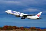 くれないさんが、高松空港で撮影した日本航空 767-346の航空フォト(写真)