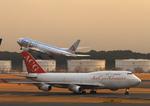 ふじいあきらさんが、成田国際空港で撮影したエア・カーゴ・ジャーマニー 747-412(BCF)の航空フォト(飛行機 写真・画像)