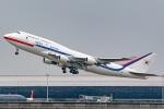 Ariesさんが、関西国際空港で撮影した大韓民国空軍 747-4B5の航空フォト(飛行機 写真・画像)