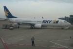職業旅人さんが、神戸空港で撮影したスカイマーク 737-8FZの航空フォト(飛行機 写真・画像)