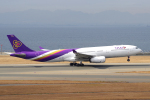 yabyanさんが、中部国際空港で撮影したタイ国際航空 A330-343Xの航空フォト(飛行機 写真・画像)