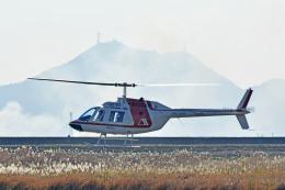 Gambardierさんが、岡南飛行場で撮影した朝日航洋 206B JetRanger IIの航空フォト(飛行機 写真・画像)