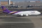 TIA spotterさんが、羽田空港で撮影したタイ国際航空 747-4D7の航空フォト(飛行機 写真・画像)