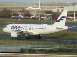 マッペケさんが、パリ シャルル・ド・ゴール国際空港で撮影したフィンエアー A319-112の航空フォト(飛行機 写真・画像)