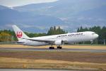 ちゃぽんさんが、鹿児島空港で撮影した日本航空 767-346の航空フォト(飛行機 写真・画像)