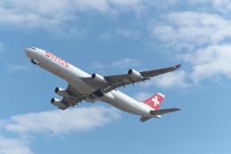 サイパンだ!さんが、成田国際空港で撮影したスイスインターナショナルエアラインズ A340-313Xの航空フォト(飛行機 写真・画像)