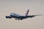 kuro2059さんが、香港国際空港で撮影したブリティッシュ・エアウェイズ A380-841の航空フォト(飛行機 写真・画像)