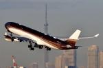SKY TEAM B-6053さんが、羽田空港で撮影したクラレット・アヴィエーション A340-313Xの航空フォト(飛行機 写真・画像)